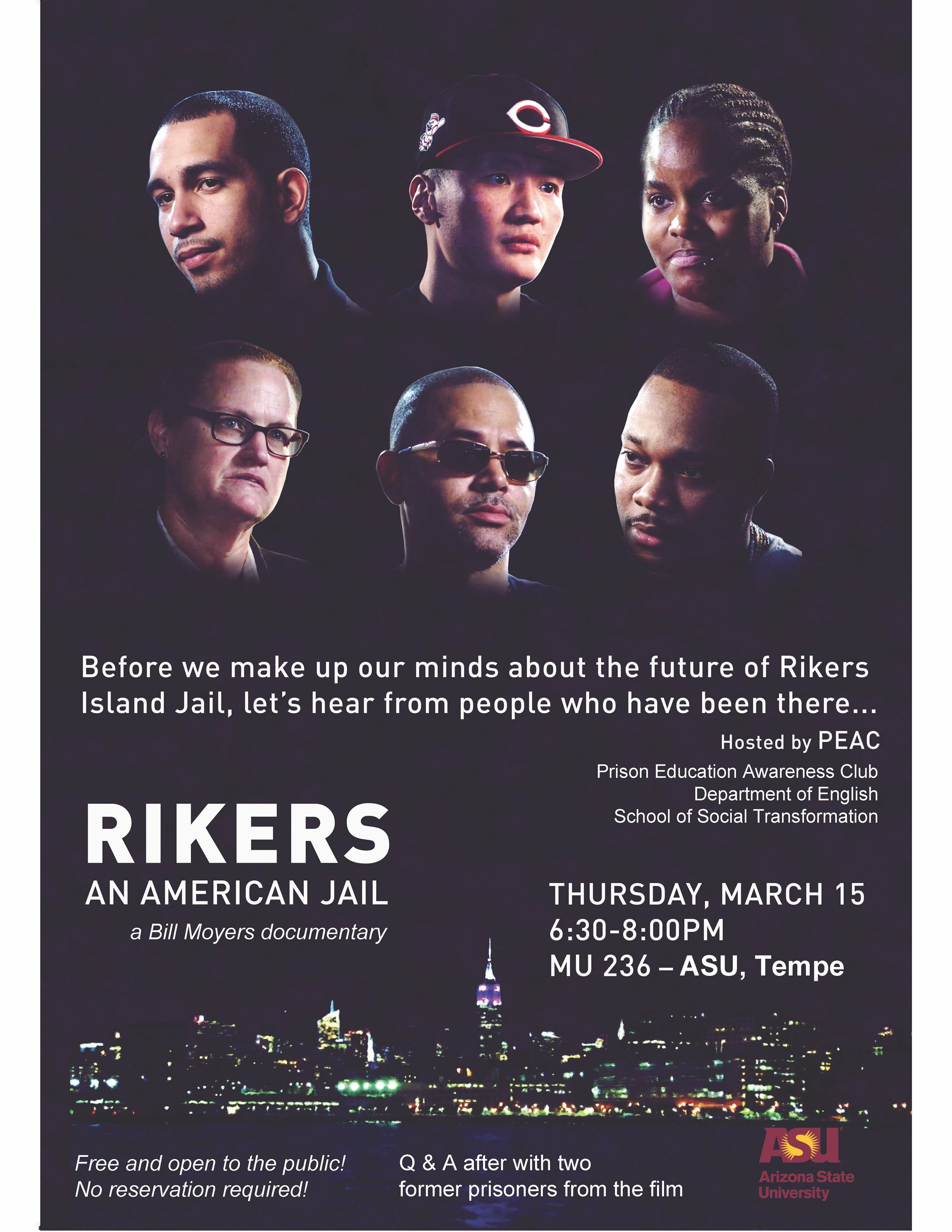 Poster image for Rikers documentary