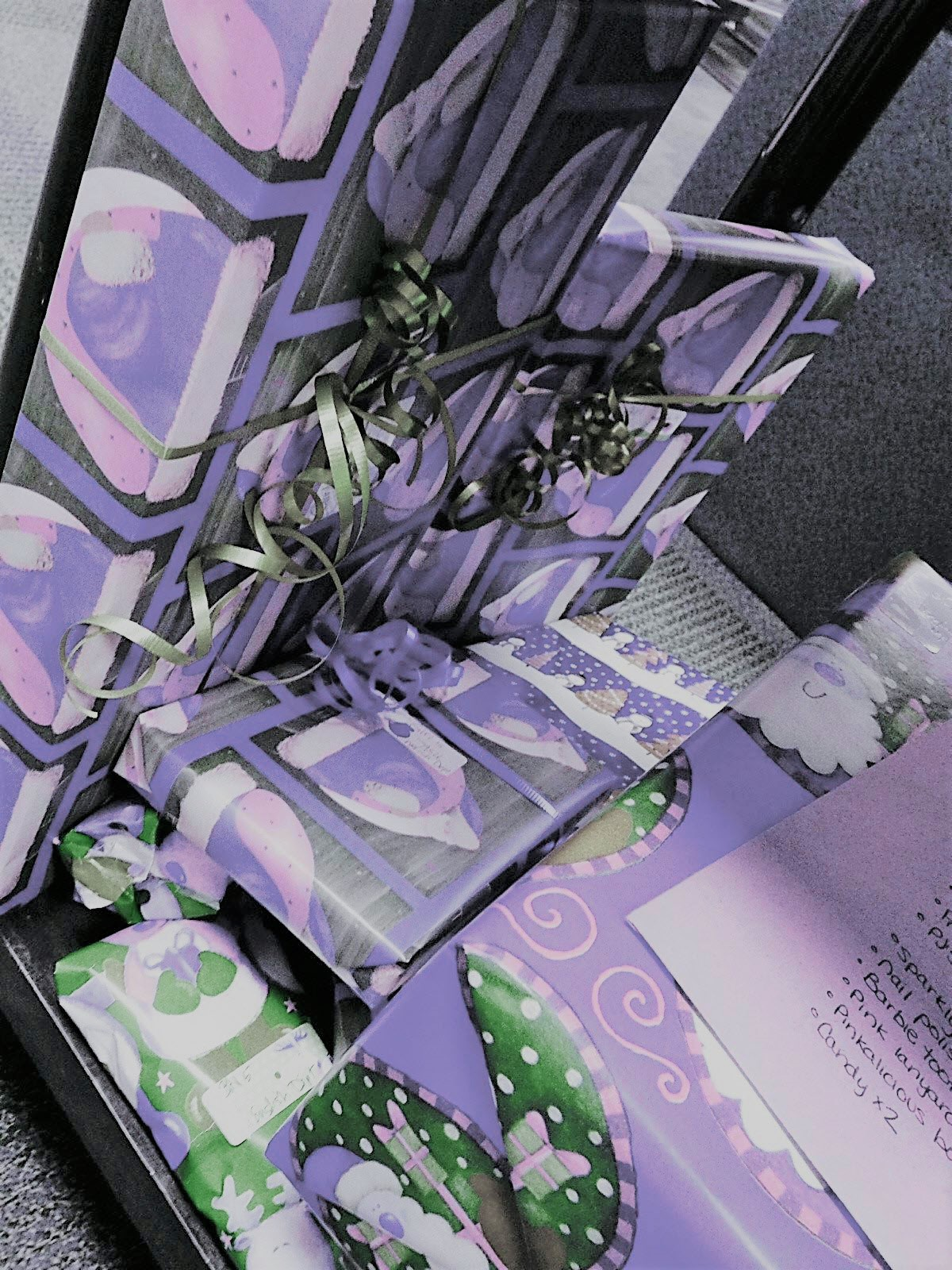 Image of presents wrapped by CARE committee / Photo by Kristen LaRue-Sandler