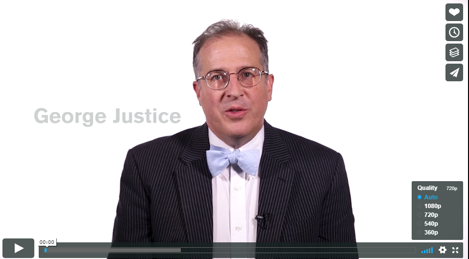Screen capture of 'George Justice on Mortality'