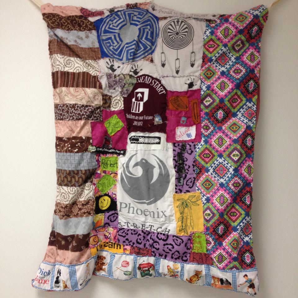 "Susan Bernstein's ""Quilt of Many Colors"" created and designed with Gila River Indian Community students"