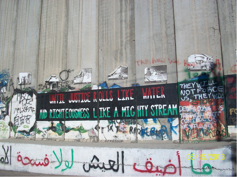 A view of the Separation Wall with a quote from Martin Luther King Jr / Photo by Sylvia Dahdal