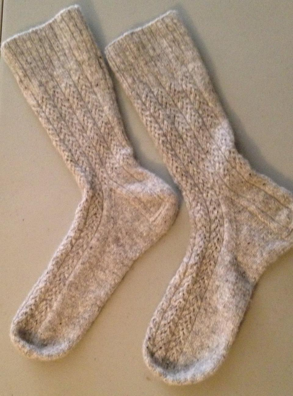 White socks created by Elizabeth Hamm