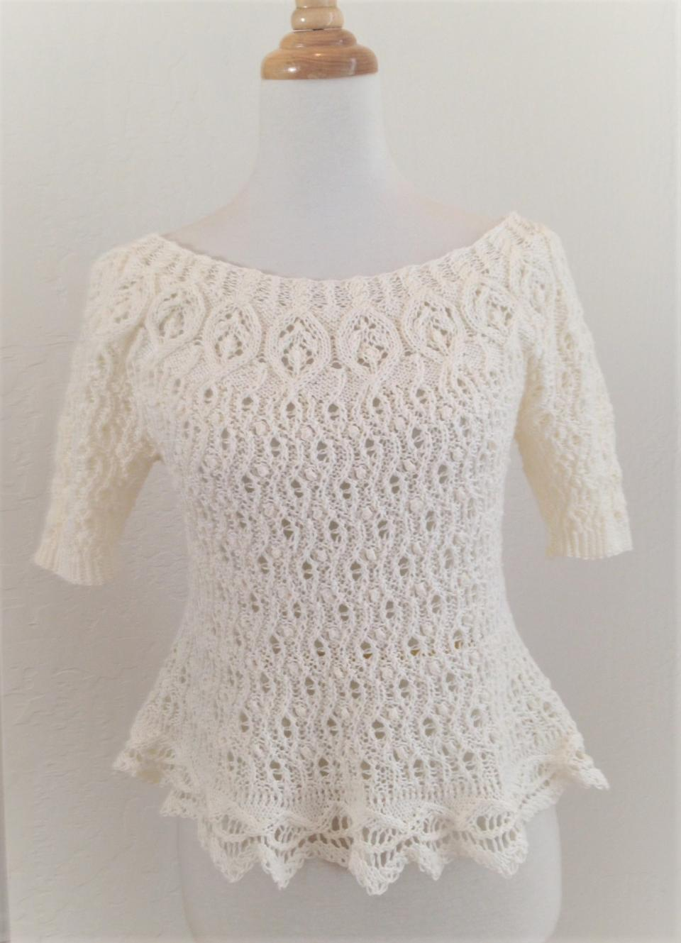 Tara Ison's knitted lace sweater