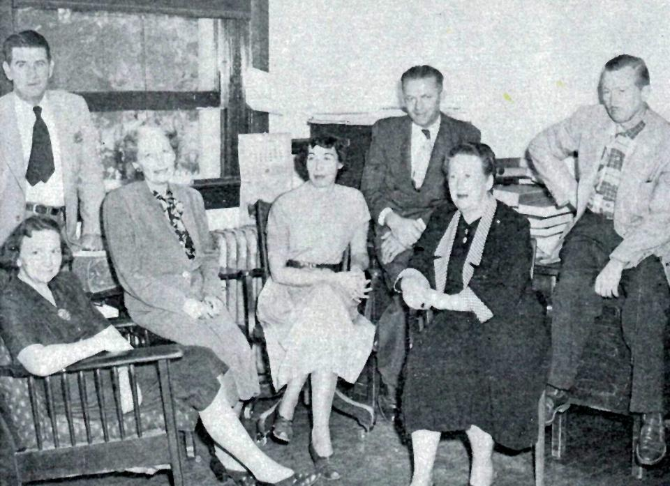 Some Department of English faculty members, likely in the 1950s, from an ASU yearbook photo.