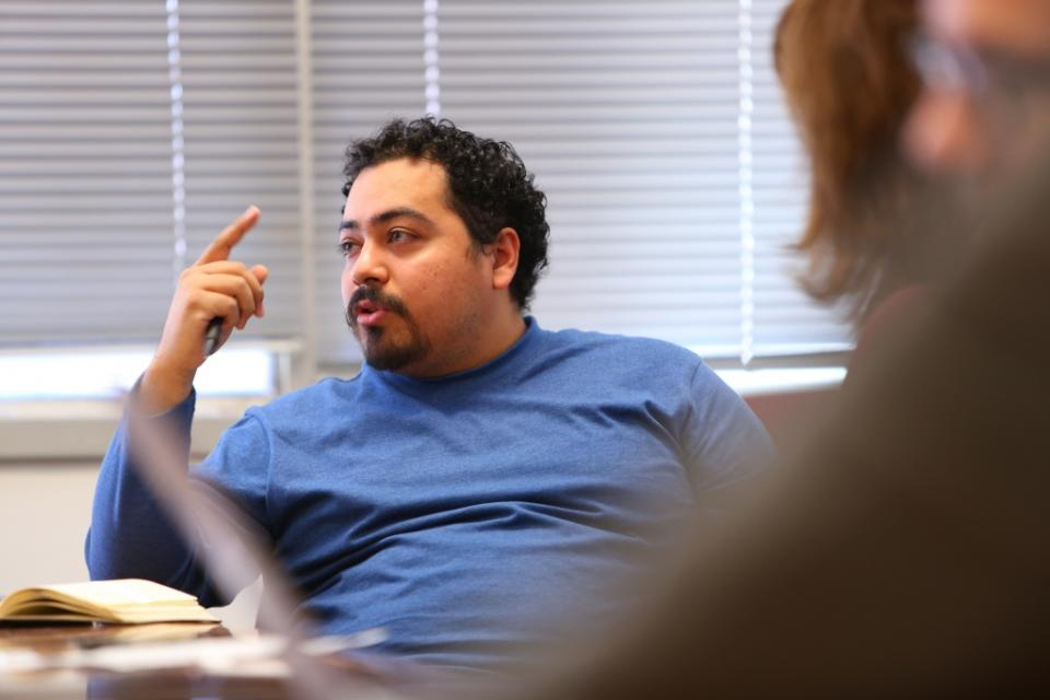 SILC graduate student Jose Gomez / Photo by Bruce Racine