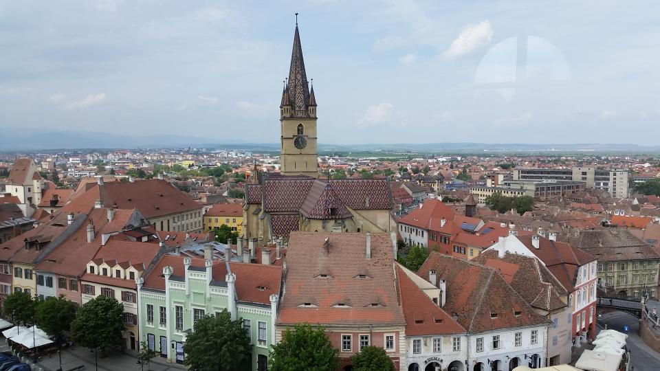 Image: A view of the spire of the Lutheran Cathedral Church in Sibiu, Romania. / Photo by Matthew Evans