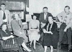 Some Department of English faculty members, likely in the 1950s, from an ASU yearbook photo