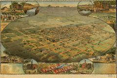 Bird's Eye View of Phoenix, AZ 1885 / Library of Congress